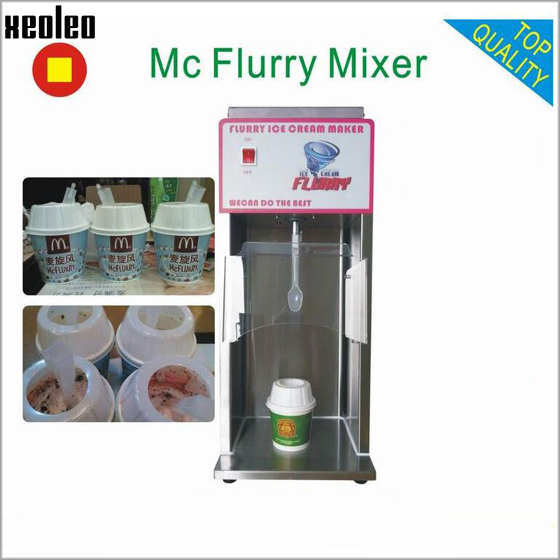 Xeoleo Mc Flurry Ice cream mixer Yogurt mixer Milkshake machine fruit Frozen Yogurt mixing machine Flurry Ice cream maker CE/LVD