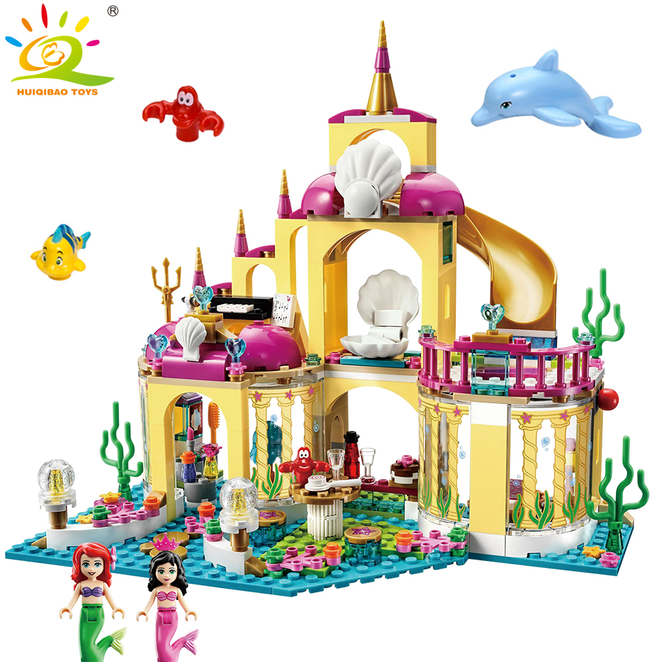 Undersea Palace Magical Ice Princess Girl Model Building Bricks Blocks Compatible Legoed Friends Doll Figures Children Toys 2016 new bela building blocks toy set princess jasmine s exotic palace 41061 girl lepine bricks toys compatible with friends