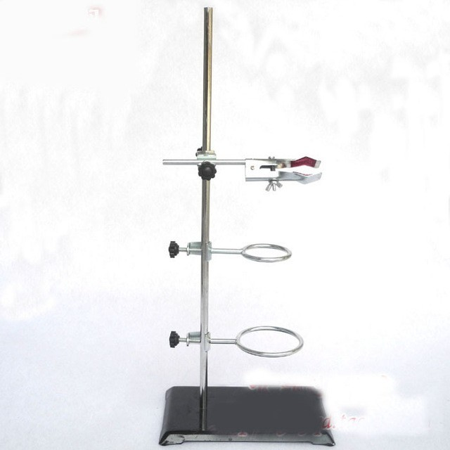 50cm retort stand iron stand with clamp clip laboratory ring stand educational equipment free shipping