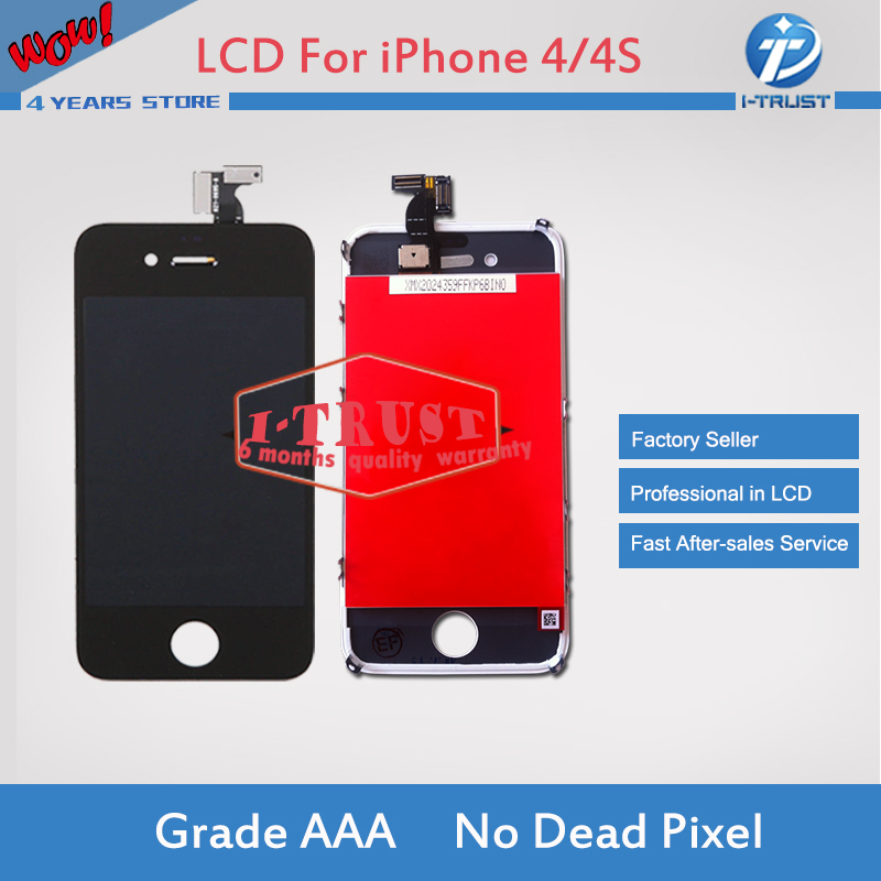 10pcs lot Free Shipping For IPhone 4 4G LCD Display with Touch Screen Glass Digitizer and