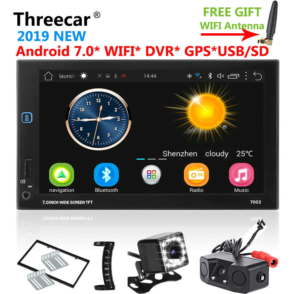 Android GPS Navigation Wifi Bluetooth 7 inch Universal 2din Car Radio Stereo USB FM DVR DTV Car Autoradio Multimedia Player