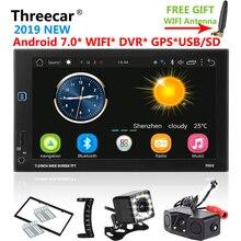 Android di Navigazione di GPS Wifi Bluetooth 7 pollici Universale 2din Auto Radio Stereo USB FM DVR DTV Auto Autoradio Multimedia Player