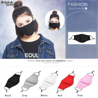 1PC Anti Fog Haze PM2 5 Black Mouth Masks Female Winter Warm Dustproof Cotton Breathable Male