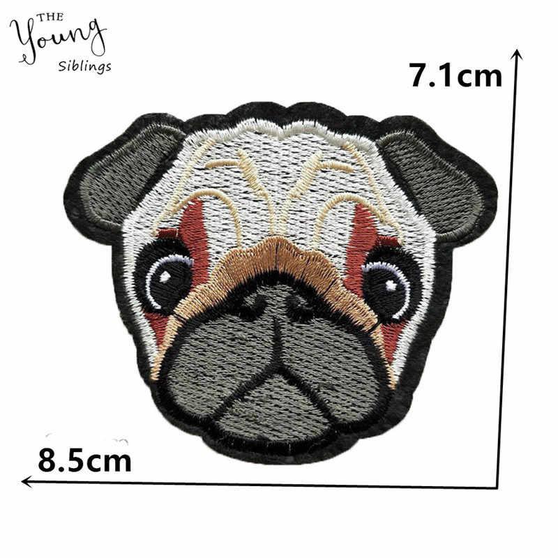 Moda dos desenhos animados bordados ferro em remendos para roupas de costura remendos para cães tecido vestuário diy artesanato motivo apliques acessórios
