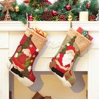 44 24cm Hige Quality Christmas Stocking Xmas New Year Ornament Christmas Tree Decoration Festival Supplies CS2220