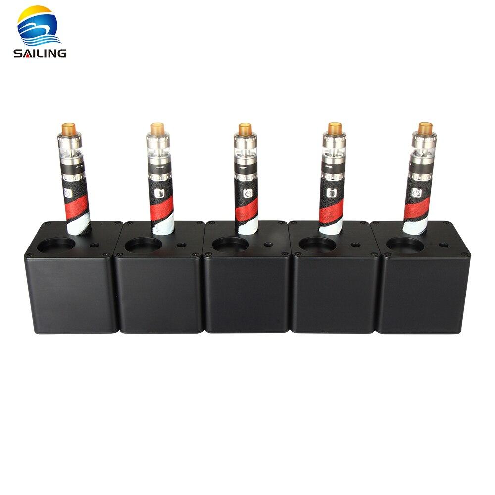 2019Nwe Athena 5 Slot e Station de test de jus e liquide Teste Stand support de cigarette étagère support rack boîte pour e liquide Vape magasin