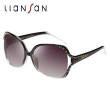 LianSan Oversized Retro Polarized Sunglasses Women Brand Designer Vintage UV Protection Luxury Driver Fashion Female LSX670
