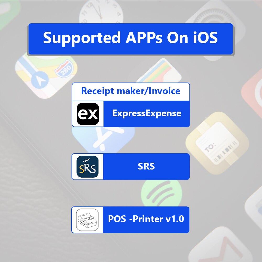 IssyzonePOS BluetoothThermal Receipt Printer 58mm Handheld POS Android iOS Mini Pocket Printer Mobile Portable Printer Free SDK