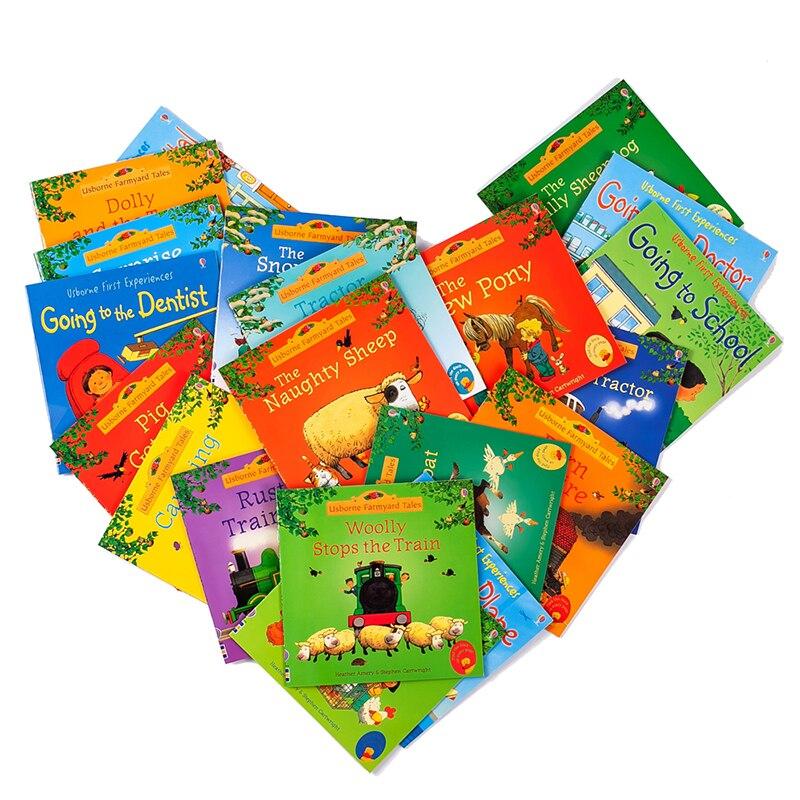 10 teile/satz zufällig Gesendet Usborne Bild Englisch Bücher Für Kinder Berühmte Geschichte Englisch Geschichten Serie Von Kind Buch Bauernhof geschichte