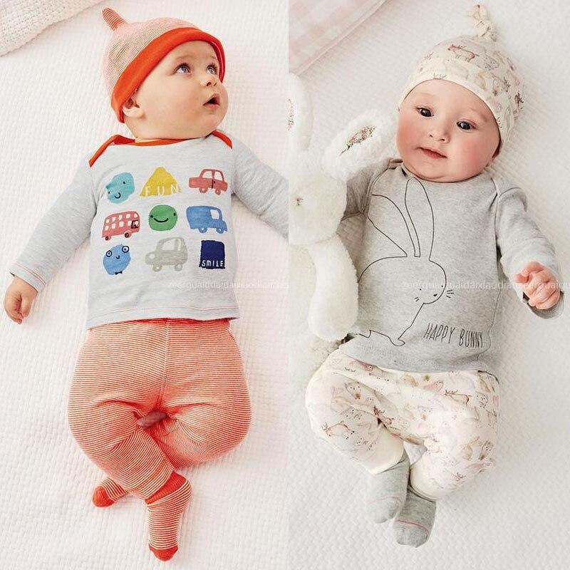 Новая детская одежда Детский комбинезон для девочек и мальчиков милые хлопковые Материал (верх + низ + шляпа) bebe Дети Малыши Комбинезоны для ...