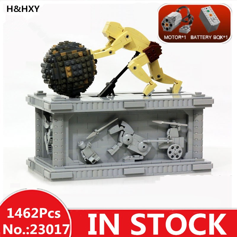 H HXY In Stock 23017 1462Pcs Genuine Technic Series The MOC Sisyphus Moving Set 1518 LEPIN