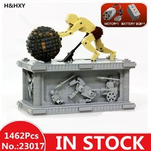 H & HXY в наличии 23017 1462 шт. натуральная техника серии MOC Сизиф двигая комплект 1518 Лепин здания блоки кирпичи игрушки