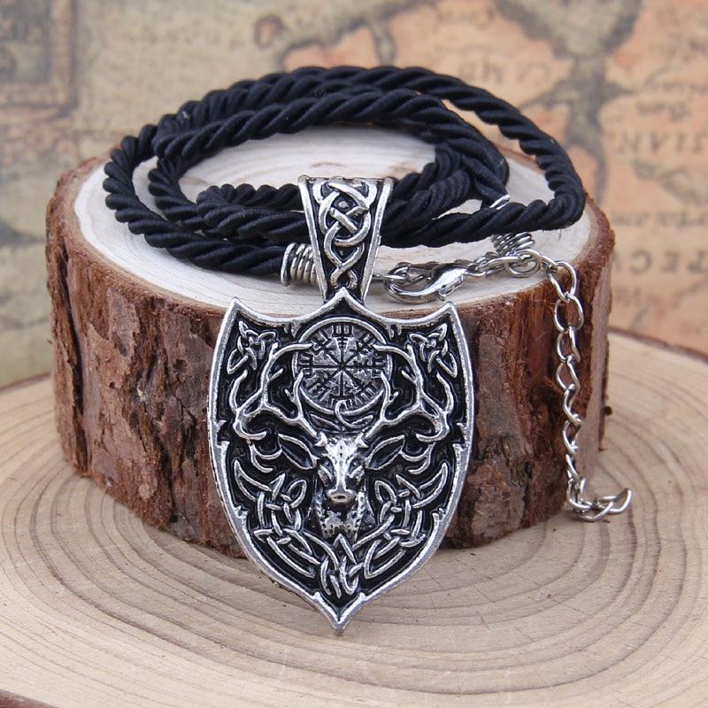 Yage 1pcs θρυλικό Viking Aegishjalmur κολιέ - Κοσμήματα μόδας - Φωτογραφία 5