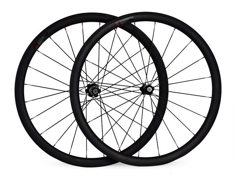 Aliexpress Shipping 38mm carbon wheels V brake 700C road bike wheels 21/23mm width carbon ruedas carbono carretera