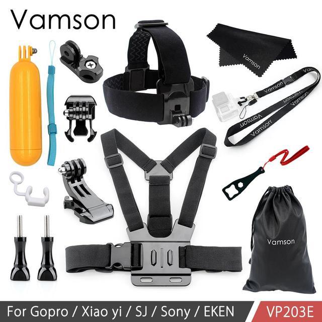 Vamson For Gopro Hero 9 8 7 6 5 4 Chest Strap Mount For Hero9 For Yi 4K Chest Harness Belt For Go Pro 8 7 Camera VP203B