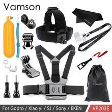 Vamson For Gopro Hero 9 8 7 6 5 4 가슴 스트랩 마운트 Hero9 For Yi 4K 가슴 하네스 벨트 Go Pro 8 7 카메라 VP203B