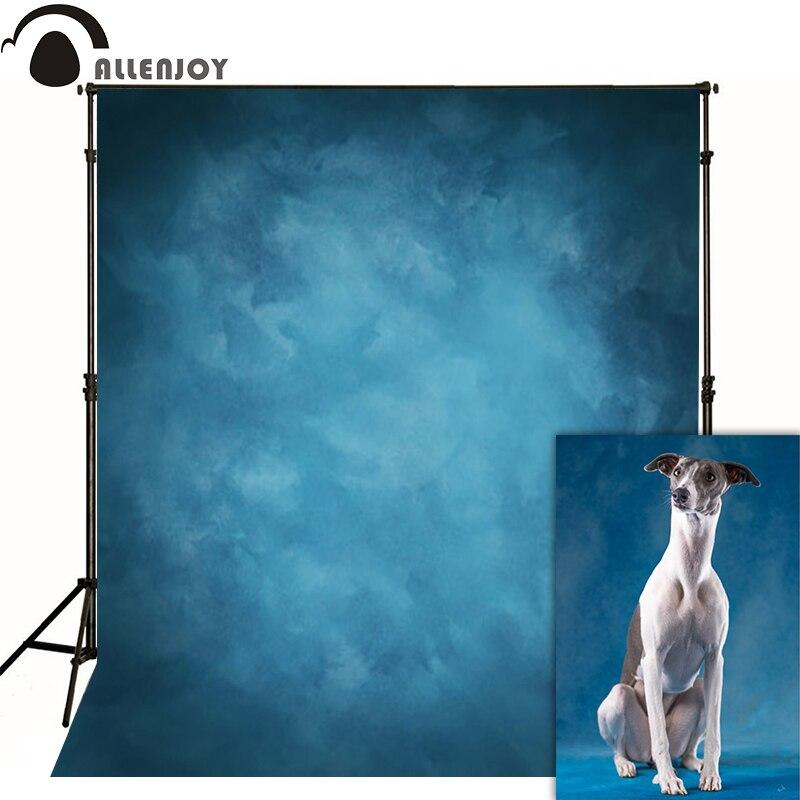 Allenjoy Thin Vinyl auduma fotogrāfija Fona zils fons Studio Photo Pure krāsu fotokamera Kāzu fons MH-076
