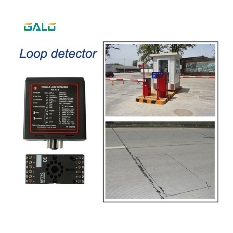 car parking system Single channel Loop Detector PD132 with a best price/detector de lazo inductivo 12VDC 24VDC 220VAC