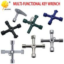 Chave de encanador multifuncional, chave triangular universal de 4 maneiras, triângulo para chaves, medidor elétrico, armários, radiadores de sangria
