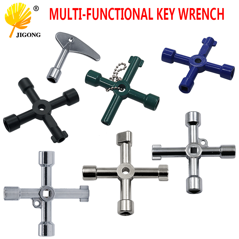 Multifunction 4 Ways Universal Triangle Wrench Key Plumber Keys Triangle For Gas Electric Meter Cabinets Bleed Radiators