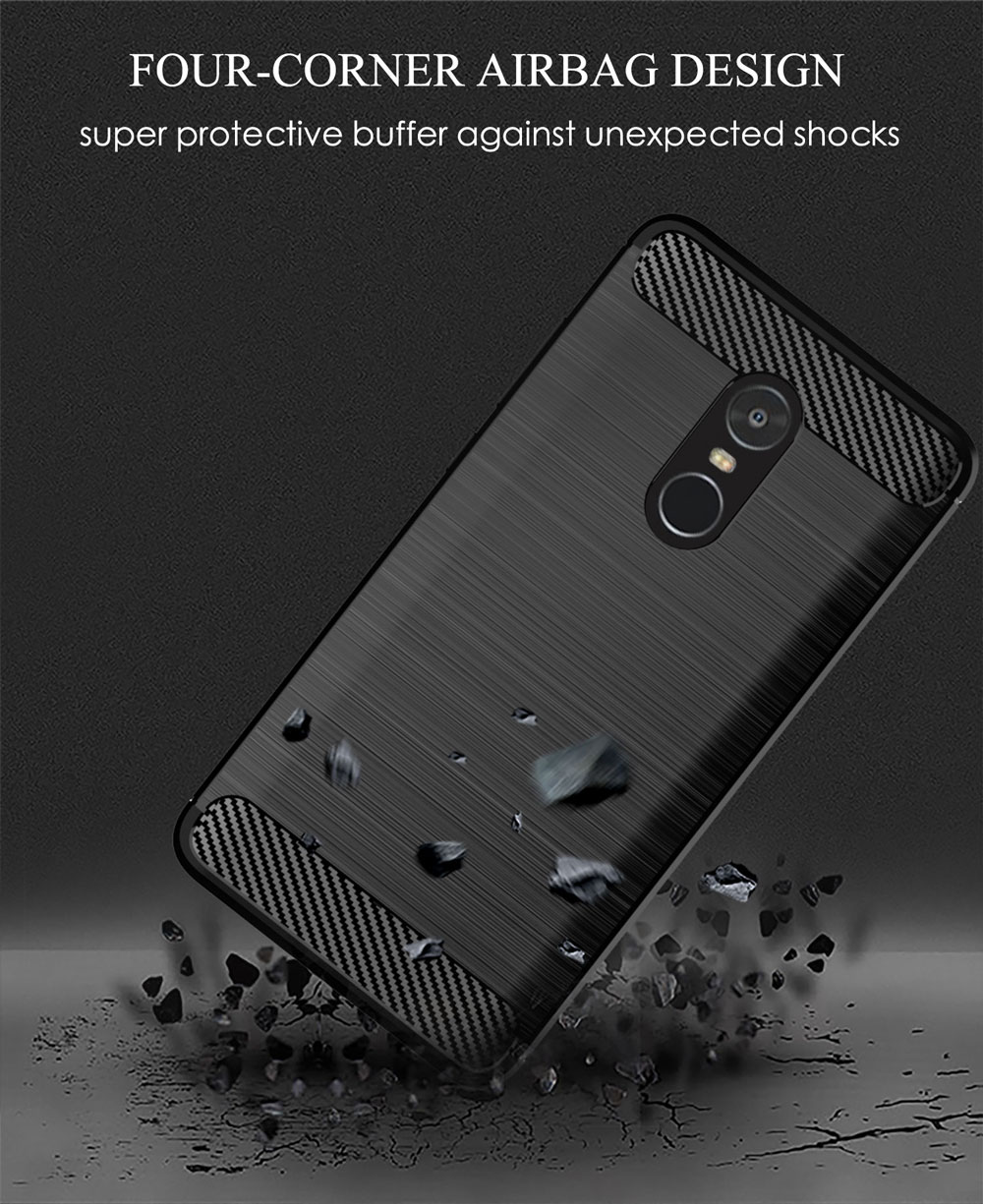 Image 5 - Phone Case For Xiaomi Redmi Note 4X Soft Carbon Style Protective Back Cover Silicon Redmi Note4 Global Version Note4X Pro 4XPro-in Half-wrapped Cases from Cellphones & Telecommunications