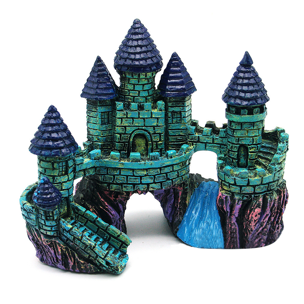Resin Cartoon Castle Aquariums Decorations Castle Tower Ornaments ...