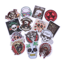 50 PCS Scrapbooking Laptop Skateboard Koffer Gitaar Auto Punk Skelet Sticker Graffiti Skull Rock Motorfiets Stickers om DIY(China)