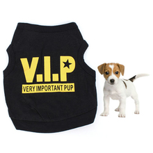 Small Dog T-shirt Pet Puppy Cat VIP Pattern Apparels Summer Clothes Tops New AA