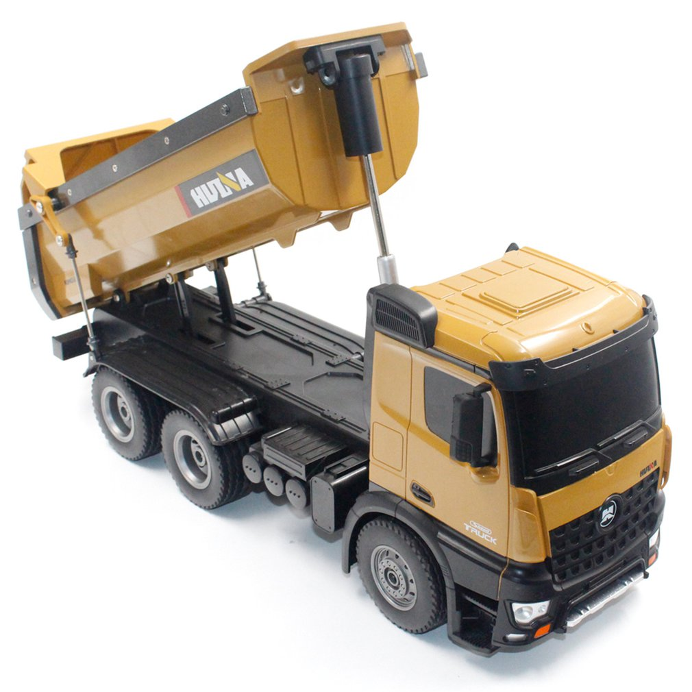 HUINA TOYS 1573 <font><b>1/14</b></font> 10CH Alloy RC Dump Trucks Engineering Construction Car Remote Control Vehicle Toy RTR RC Truck Model Toy image