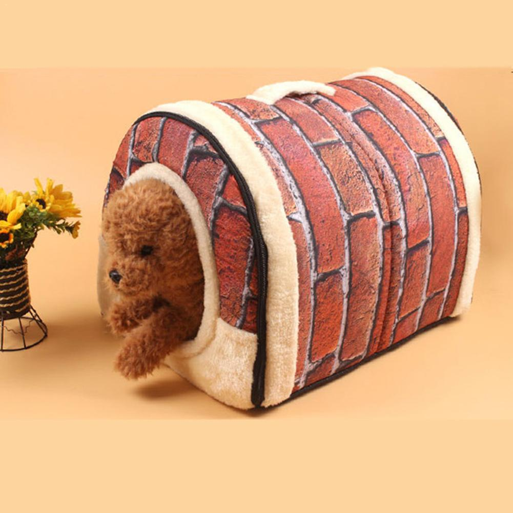 Hot Sale Soft <font><b>Dog</b></font> Cat Bed house Detachable Washable Foldable Doghouse cage Cat Litter <font><b>Kennels</b></font> Pet House image