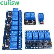 1 2 4 8 канальный DC 5 в 12 В релейный модуль с оптроном низкий уровень триггера Плата расширения для arduino