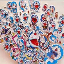 6 Sheets/set Cartoon Doraemon Stickers Scrapbooking For kids Rooms Decor Diary Notebook Decoration Toy 3D sticker