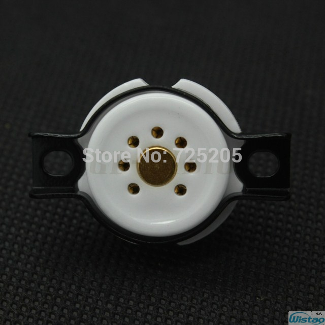 7-pin Gold Plated Vacuum Tube Socket Litle Nine Pins 6Z4 6X4 EF95 EZ90 6AQ5 6J1 Gold-plated Copper & Ceramic Base Free Shipping