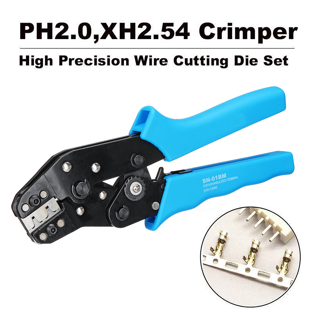 SN-01BM Terminal Wire Cable Crimping Pliers Tool for Dupont PH2.0 XH2.54 AMG28-20 KF2510 JST Hand Tool Plier Crimper sn 01bm ph2 0 xh2 54 dupont sm plug terminal crimping tool crimping pliers for d sub terminals sq mm 0 08 0 5 awg28 20