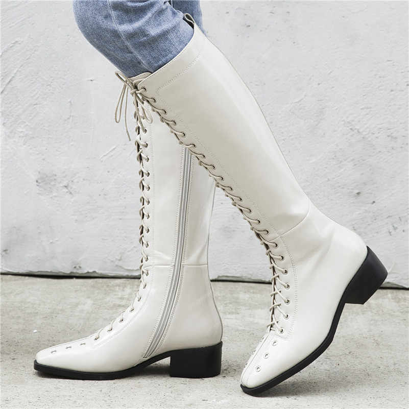 FEDONAS 2020 חורף חם נוח קצר מגפי צלב קשור אמיתי עור נשים קרסול מגפי פאנק מסיבת עקבים גבוהים נעלי אישה