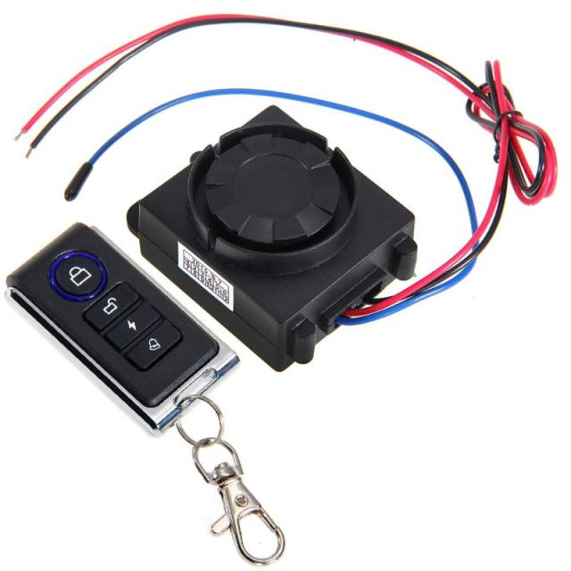 Motorcycle Anti-Theft Security Alarm System Vibration Detector Remote Control Vibration Sensor Theft Protection DC 12V 315MHz