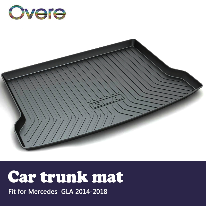 Overe 1Set Car Cargo rear trunk mat For Mercedes GLA X156 2014 2015 2016 2017 2018 Boot Liner Tray Styling Anti-slip Accessories росмэн лесные сказки н сладков