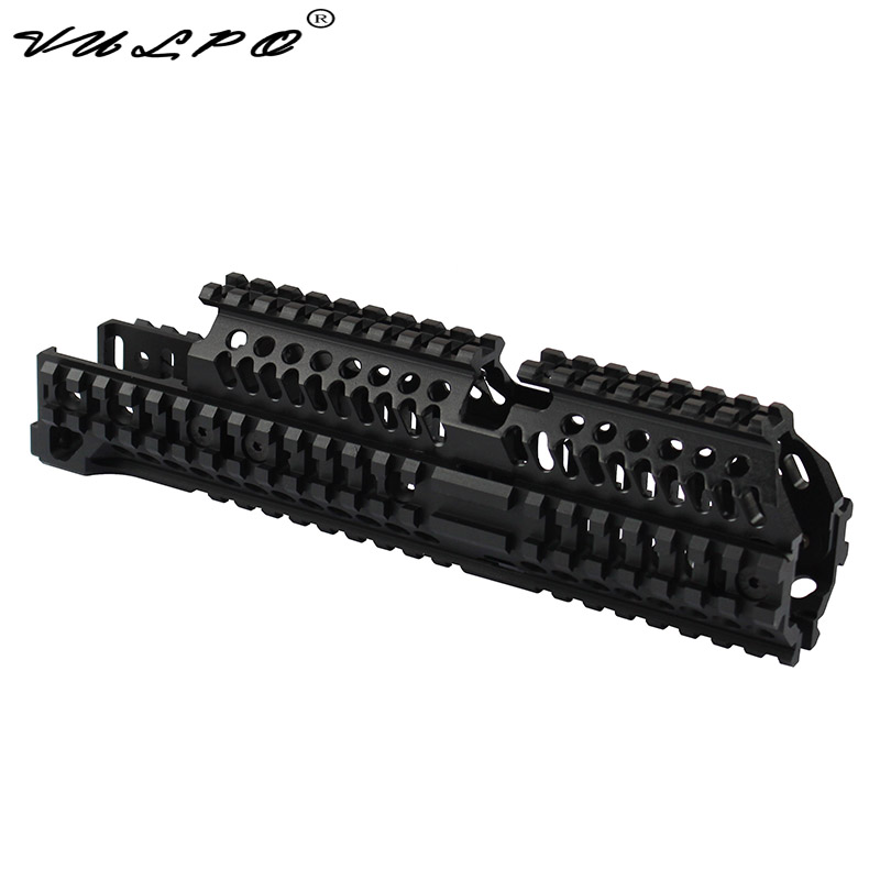 US $66 5 40% OFF|VULPO High Quality Tactical AK47 Quad Rail Picatinny  Handguard System For AK Airsoft AEG-in Scope Mounts & Accessories from  Sports &