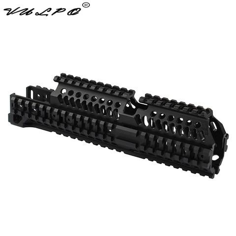 vulpo alta qualidade tactical ak47 quad ferroviario picatinny handguard sistema para ak airsoft