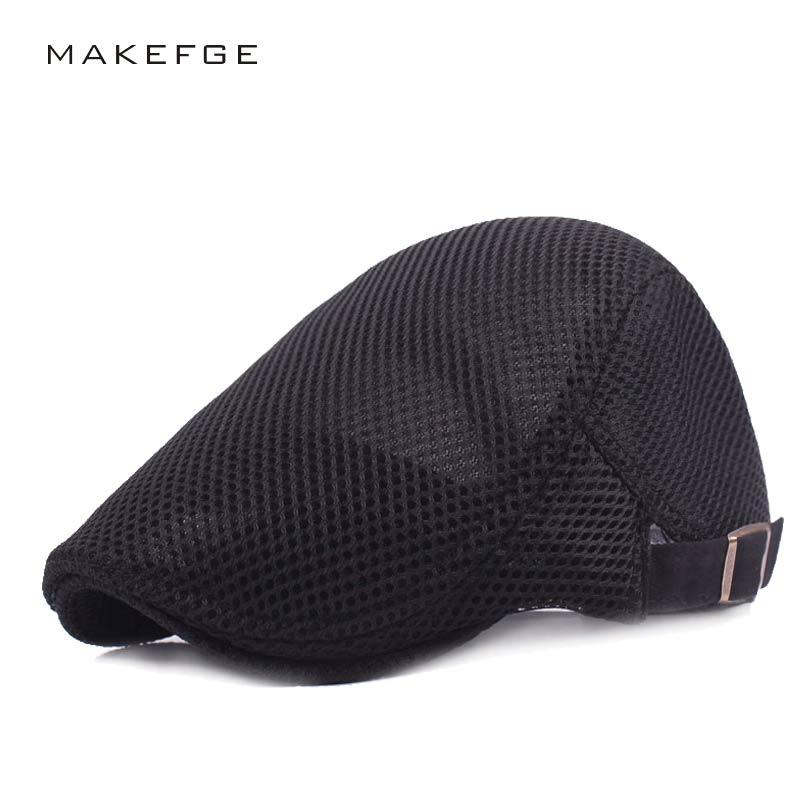 Verano sombrero de la boina informal sombrero para los hombres y las  mujeres viseras Ivy Cap cabeza plana Cabbie Newsboy estilo Gatsby sombrero  gorras ... 8db4d7d0ac1