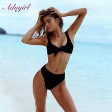 Sexy Bikinis Solid Push Up Swimsuit summer Women 2019 Swimwear Bikini Set high waist Bathing Suit femme Brazilian Beachwear цена в Москве и Питере