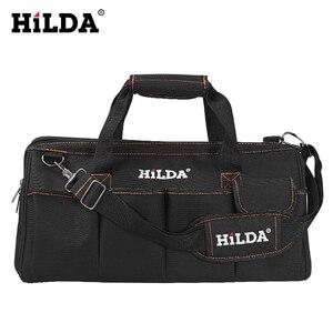 Image 4 - HILDA Tool Bags Waterproof Men canvas tool bag  Electrician Bag Hardware Large Capacity Bag Travel Bags Size 12 14 16 18 Inch