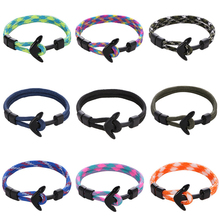 HOMOD 2019 Hot Sale Navy Style Sport Camping Parachute Cord Survival Bracelet Men With Metal Shackle Buckle Pulseira цена