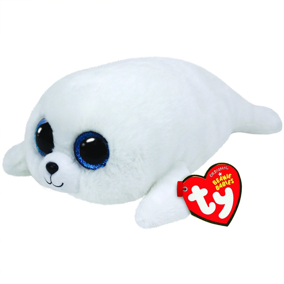 6 15cm Ty Beanie Boos ICY - white seal Plush Regular Stuffed Animal Collectible Soft Doll Toy