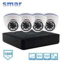 960H DVR Kit 1000TVL CMOS Dome Camera Home Security System H 264 4 Channel Built
