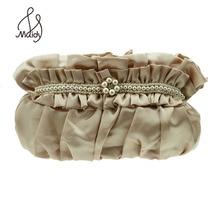 Markdown Verkauf Prominente Damen Frauen Handtaschen Pochette Soiree Perlen Satin Kristall Schädel-ring-abend-einzelner Umhängetaschen Kupplung Geldbörsen