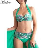 Women Swimsuit 2018 New Sexy Low Waist Push Up Bandage Bikinis Set Digital Print Tankinis Swimwear Women Hot Beach Bathing Suit