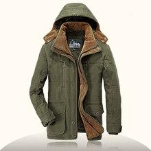 Бренд парка мужская зимняя куртка мужская теплая флисовая фирменная куртка в стиле милитари хлопок-стеганая куртка мужская куртка пальто плюс размер 4XL