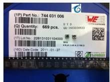 NÓS fabricante fixo indutores SMD 3816 744031006 6.8 UH 6 r8 0.85 Um escudo