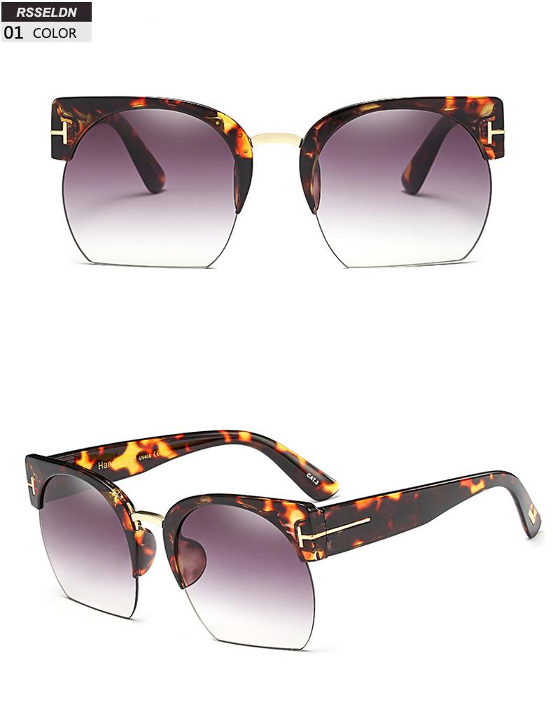 HTB1FY47SpXXXXbAXFXXq6xXFXXX6 - RSSELDN Newest Semi-Rimless Sunglasses Women Brand Designer Clear Lens Sun Glasses For Women Fashion Sunglass Vintage oculos